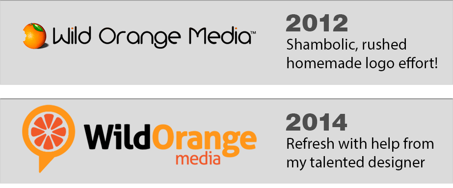 Wild Orange Media logo evolution